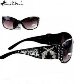 Pistol sunglasses from www.cowgirlshine.com