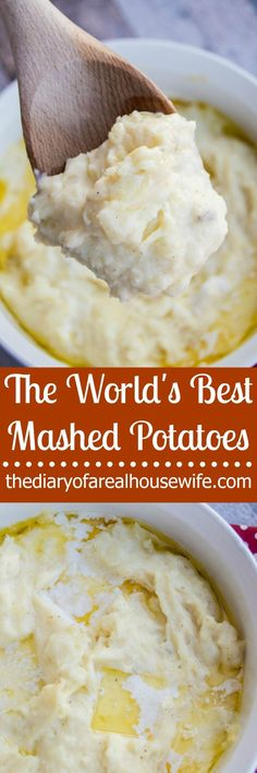 If you need a good recipe for Thanksgiving you will want this on the table!! The World's BEST mashed potatoes EVER! (Vegetable Recipes For Thanksgiving)