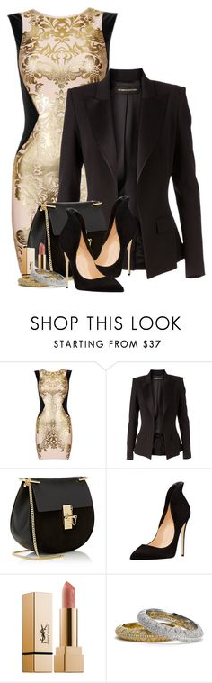 """Cocktail Hour"" by flowerchild805 ❤ liked on Polyvore featuring Retrò, Alexandre Vauthier, Chloé, Yves Saint Laurent and Nadri"