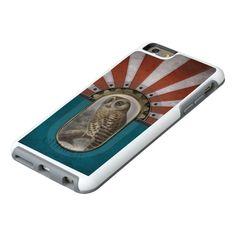 Retro Owl. OtterBox iPhone 6/6s Plus Case★ #Steampunk #Samsung #iphone #Cases #S6 #S7 #ipad #samsunggalaxys #victorian #phonecases #accessories #gosstudio