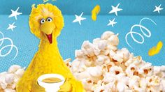 Birds of a feather cook together! Here's a recipe for one of Big Bird's favorite sweet treats - Popcorn Pudding!