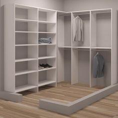 Rebrilliant Belle W - W Closet System Front Closet, Closet Rod, Closet Storage, Attic Closet, Diy Master Closet, Master Bedroom, Walking Closet, Corner Closet Organizer, Simple Closet
