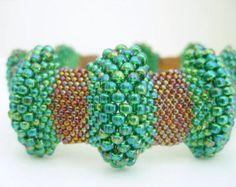 Peyote Bracelet in Sparkly Currant Beadwork Seed by MadeByKatarina