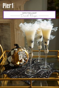 Sugared Champagne with blackberries and just a touch of dry ice for presentation makes a tempting treat, especially for those who still have taste buds.