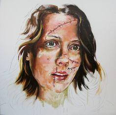 "Nathalie Labaki; Painting, ""Against Domestic Violence"" #art"