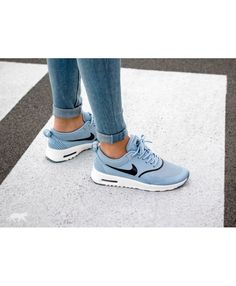 official photos 727d7 d0728 Nike Air Max Thea Blue Black White Trainers Rose Gold Trainers, Air Max Thea ,