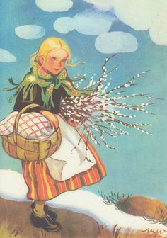 Martta Wendelin 53760 - not available Vintage Books, Vintage Cards, Vintage Postcards, Girl Face Drawing, Swedish Girls, Children's Book Illustration, Christmas Art, Atc, Retro