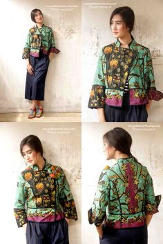 Available SOON at Batik Amarillis webstore http://batikamarillis-shop.com Batik Amarillis's Ryder Jacket & new Blogger pants   Such a beautiful design for assymetrical part of riding and military inspired jacket, it features criss cross piping and lining. You can change the look by playing with the front button and the front flap of the jacket!