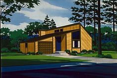 House Plan 57419 | Contemporary    Plan with 775 Sq. Ft., 1 Bedrooms, 1 Bathrooms, 1 Car Garage