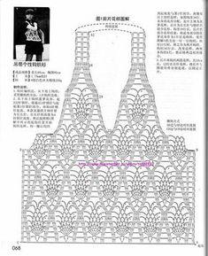 Diy Crafts - View album on Yandex. Motif Bikini Crochet, Crochet Necklace Pattern, Crochet Beach Dress, Black Crochet Dress, Crochet Tunic, Crochet Clothes, Crochet Lace, Diy Crafts Crochet, Pineapple Crochet