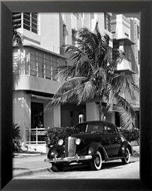 South Beach Art Deco, Miami, Florida Lámina fotográfica por George Oze en AllPosters.es