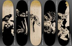160 Wonderful Skateboard Designs | TutorArt | Graphic Design ...