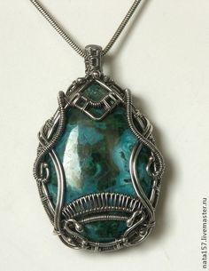 Pendants handmade. Fair Masters - handmade silver pendant with chrysocolla. Handmade.