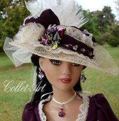 "2012 TONNER 22"" AMERICAN MODEL OOAK OUTFIT ""A BERRY VICTORIAN AUTUMN"" BY COLLET-ART 