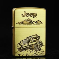 Etching Brass Jeep Car Zippo Limited Edition