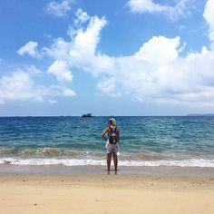 Enjoying the Tioman Sea from @abcchalettioman 😍 via @agoda #travelbloggers #malaysia #travel    #Regram via @katielewla