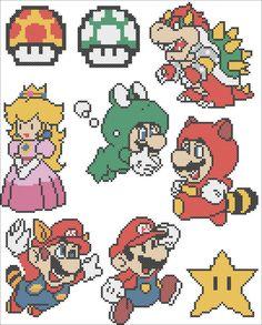BOGO FREE SUPER Mario Character Mario by Rainbowstitchcross