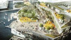 JWW Arkitekter, Sydhavn Skole, Sluseholmen, Copenhagen, Green Roof, School, Rooftop Garden, Harbor Building, Green Building, Sustainable, Low Energy Class 2015