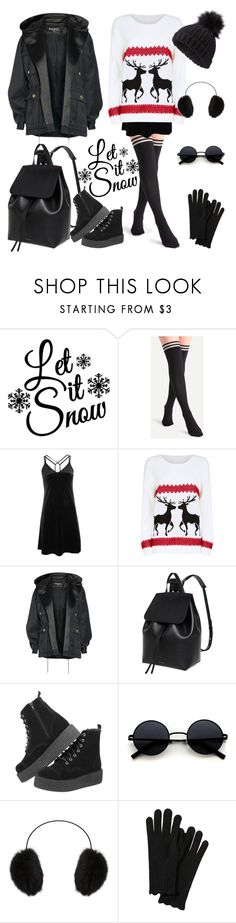 """Winter"" by pelagianath ❤ liked on Polyvore featuring Topshop, Mela Loves London, Balmain, Mansur Gavriel, T.U.K., BCBGMAXAZRIA and Miss Selfridge"