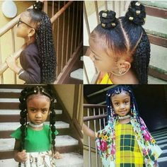Tips And Tricks For Beautiful Hair With Minimum Fuss. While nearly everyone appreciates the look and feel of healthy hair, not everyone understands the best way to obtain it. Lil Girl Hairstyles, Natural Hairstyles For Kids, Braided Hairstyles, Toddler Hairstyles, Fashion Hairstyles, School Hairstyles, Braids For Kids, Girls Braids, Curly Hair Styles