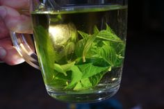 Mint-tea from our own garden... #lovely