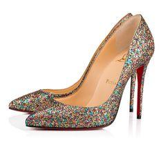 7485a4ea2b08a Pigalle Follies 100 Multi Glitter Glamat - Women Shoes - Christian Louboutin
