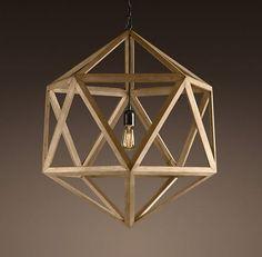 New York: Polyhedron Wooden Pendant Light $350 - http://furnishlyst.com/listings/963166