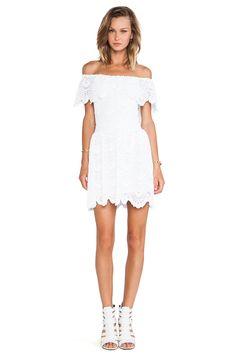 Nightcap Riviera Fit 'n Flare Dress in White | REVOLVE