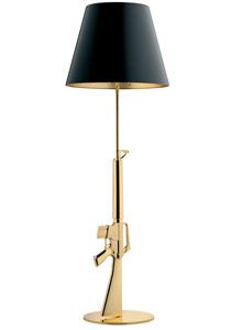 Flos Lounge Gun Gold Floor Lamp by Philippe Starck