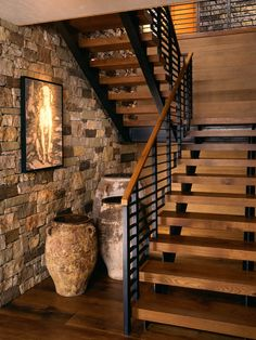 Industrial Stairs Rustic Staircase Design 6