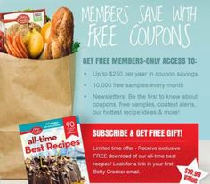 Betty Crocker Members Only: Sign Up and Receive a Free Gift #bettycrocker #freecoupons #coupons #productsamples