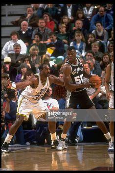 Nba Players, Basketball Players, Basketball Court, Karl Malone, David Robinson, Utah Jazz, San Antonio Spurs, Old School, Superstar