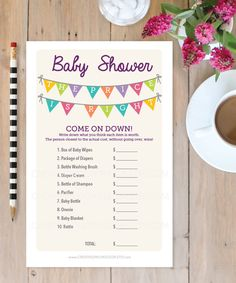 Make your Baby Shower amazing with this super fun game! Ladies of all ages love playing!   • • • • • HOW IT WORKS • • • • • 1. Download the PDF 2. Print at home 3. Cut the sheets in half (crop marks provided) 4. Sit back and watch all the ladies laugh as they play this game!   • • • • • FILE INFORMATION • • • • • - Two games print on standard 8.5x11 paper - US 8.5x11 size included - A4 size included - Easily cut sheet in half (crop marks provided) - Print as many as you need! - Matching…
