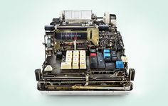 Photographer Kevin Twomey's series 'Low Tech' offers a glimpse into the complex guts of old mechanical calculators.