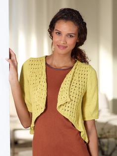Eyelet Swing Cardi via Lion Brand Yarn - Free pattern