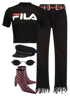 """Sin título #1436"" by osnapitzvic ❤ liked on Polyvore featuring 3x1, B-Low the Belt, Fila, MISBHV and Lola"