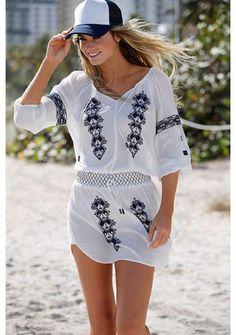 KANGAROOS Lange blouse met borduursel