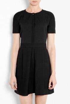 Short Sleeve Jacquard Bodice Box Pleat Dress by Vanessa Bruno Athé