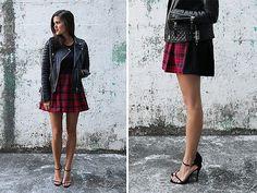 how to make a two tone tartan skirt by apairandaspare, via Flickr