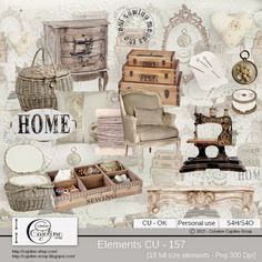 CAJOLINE-SCRAP: Elements CU - 157