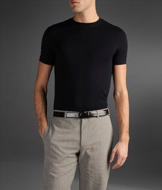 T-shirt In Shorn Stretch Viscose Fabric Price: $99,00