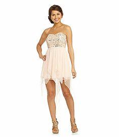 Xtraordinary Sequin HiLow Dress #Dillards