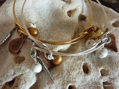 $39 - White Magnesite Joy Bangle - Inspirational handmade gemstone jewellery Earth Jewel Creations Australia