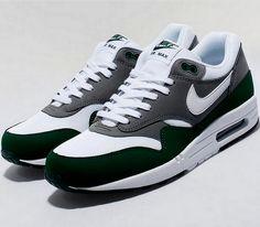 brand new d9829 fee65 Nike Air Max 1 – Green   Grey – White