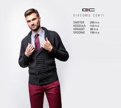 Stylizacja Giacomo Conti: rozpinany sweter na guziki Donato 14/103 CS #giacomoconti