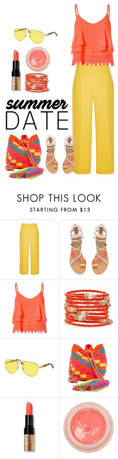 """Summer Bright"" by patricia-dimmick on Polyvore featuring River Island, Glamorous, Michael Kors, Guanábana, Bobbi Brown Cosmetics, By Terry, statefair and summerdate"