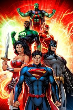 Superman and Justice League by Michael Turner
