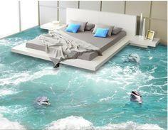 3D Flooring wallpaper waterproof self adhesion