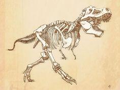 tattoo trex skeleton - Sök på Google