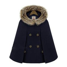 Young17 women's coats thick Double Breasted 2016 Winter wool women's coats Cloak Batwing Sleeve Fur Poncho lady Hooded cape coat-in Wool & Blends from Women's Clothing & Accessories on Aliexpress.com | Alibaba Group